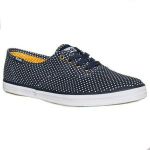 Keds Champion navy micro dot polka dot sneakers